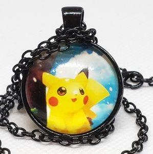 New PIKACHU POKEMON Glass Tile Necklace ☆☆gift